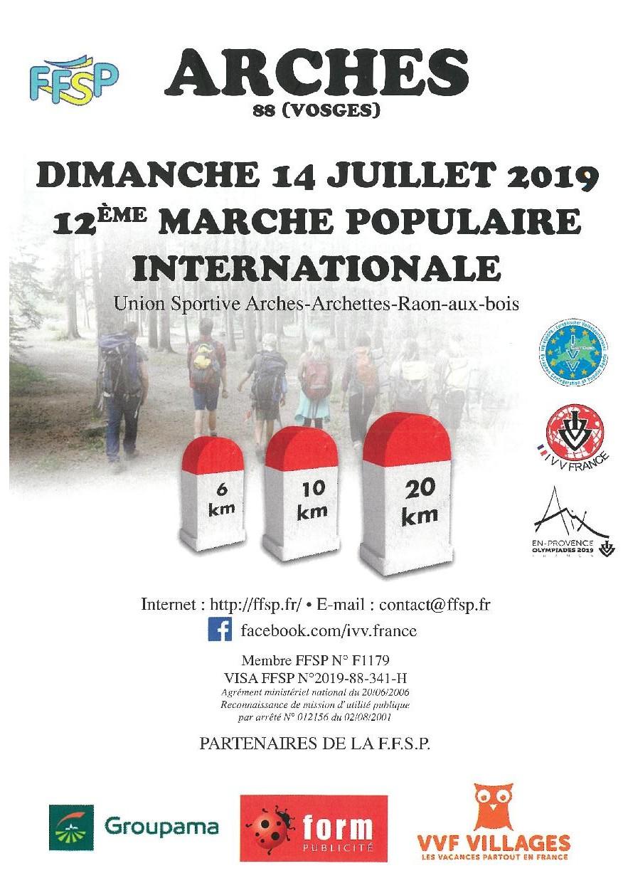 Calendrier Marche Populaire Vosges 2019.Arches 2019 Juin